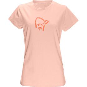 Norrøna W's /29 Cotton Logo T-Shirt World Peach